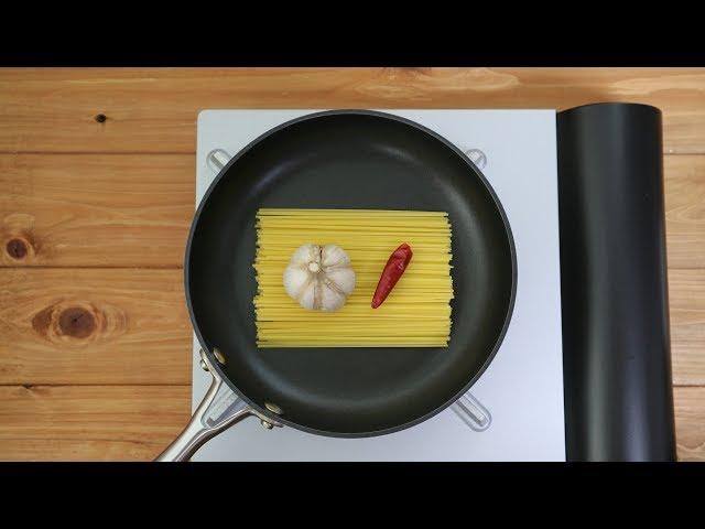 ペペロンチーノを作りたい【鍋2つ洗いたくない】【料理の途中から油汚れを落としたい】